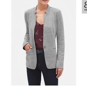 Textured knit inverted color blazer EUC